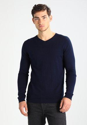JPRLUKE V-NECK - Jersey de punto - maritime blue