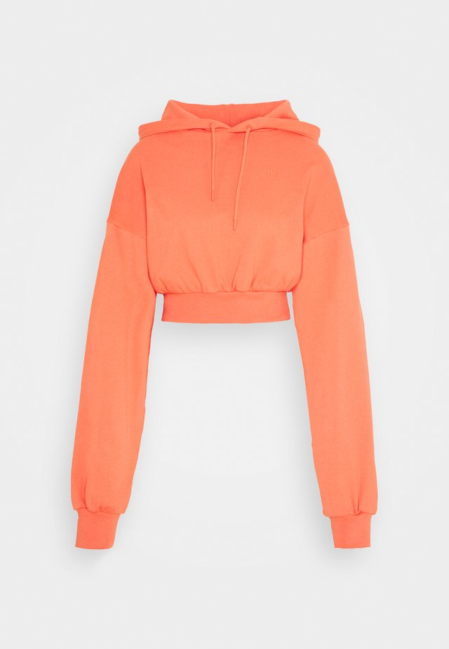 CROPPED HOODIE - Luvtröja - orange