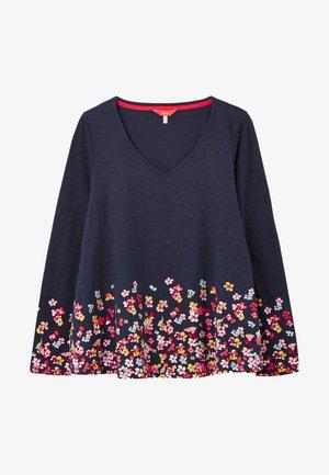 HARBOUR LT SWING PT - Long sleeved top - marineblau floral