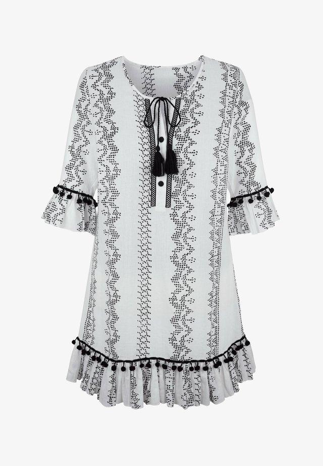 Tunic - weiß schwarz