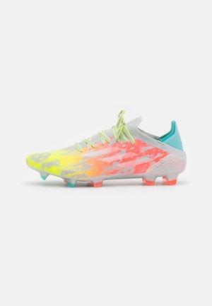 X SPEEDFLOW.1 FG - Voetbalschoenen met kunststof noppen - clear onix/footwear white/solar yellow