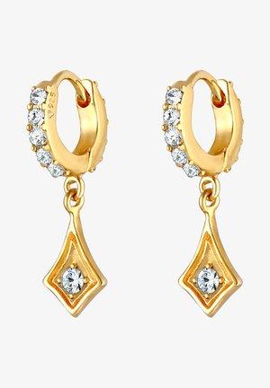 GLASS CRYSTAL - Kolczyki - gold