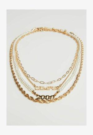 SET - Necklace - goldcoloured
