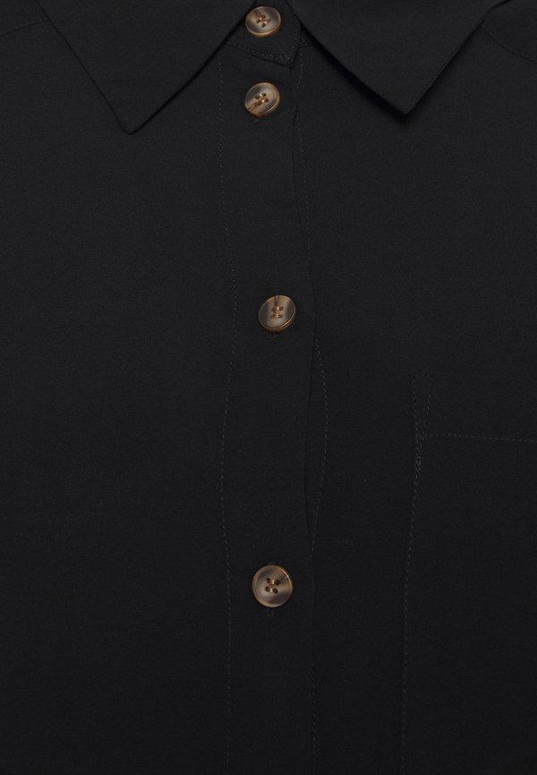 ONLY Carmakoma CARDENIZIA SOLID - Bluzka - black/czarny WMXM