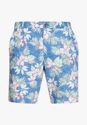 FLORAL CHAMBRY SHORT - Shortsit - federal blue