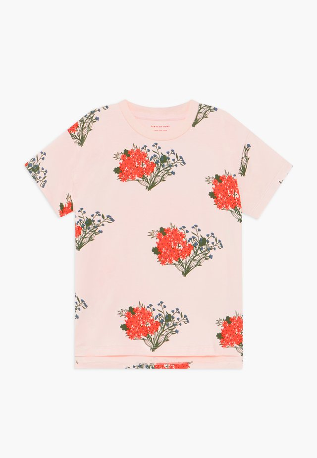 FLOWERS  - Print T-shirt - light pink/red