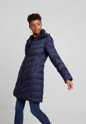 WHISTLER SLIM DOWN HOODED LONG - Płaszcz puchowy - sartho blue