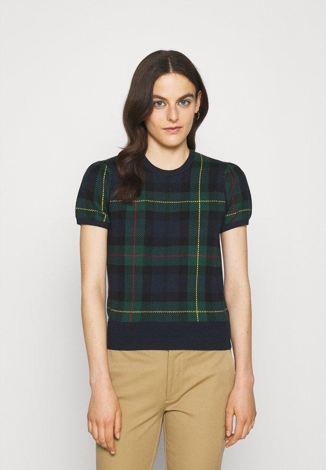 SHORT SLEEVE PULLOVER - Print T-shirt - plaid multi