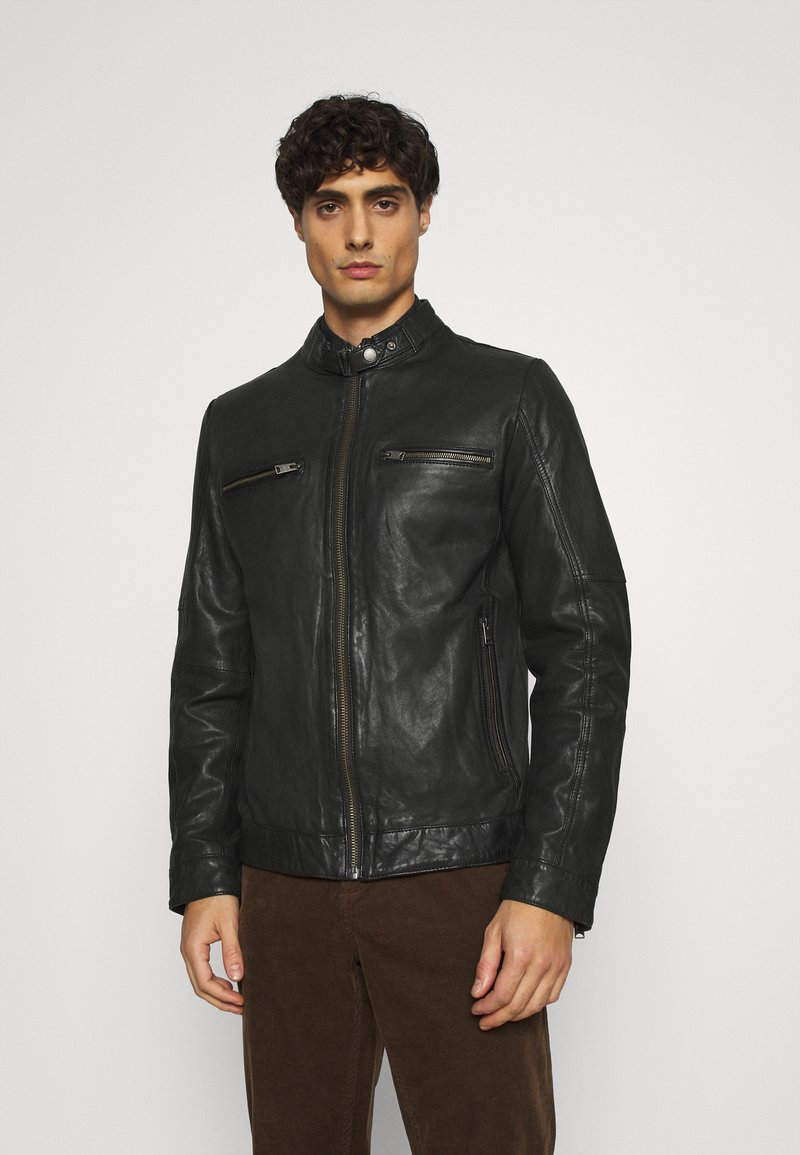 Lindbergh - LEATHER JACKET - Leather jacket - black
