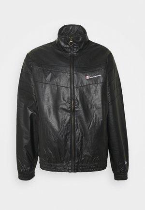FULL ZIP - Imitatieleren jas - black