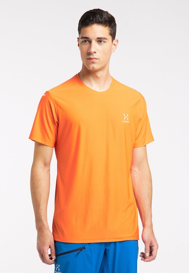 Print T-shirt - flame orange