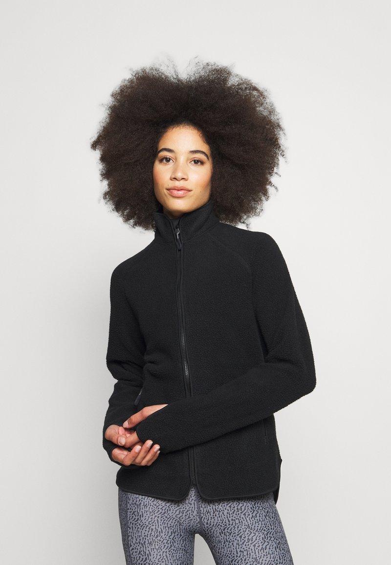 ARKET - Fleecová bunda - black