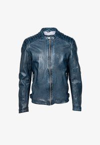 Freaky Nation - BLUERACY - Leather jacket - true navy - 4