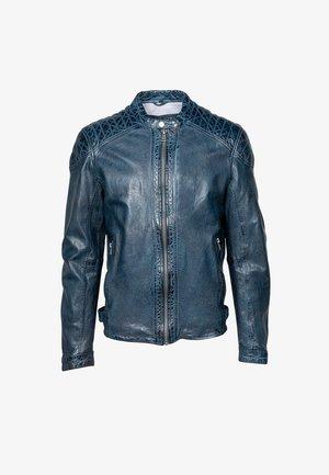 BLUERACY - Leather jacket - true navy