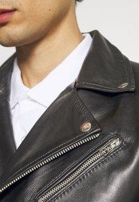 Goosecraft - VICK BIKER - Leather jacket - black - 5