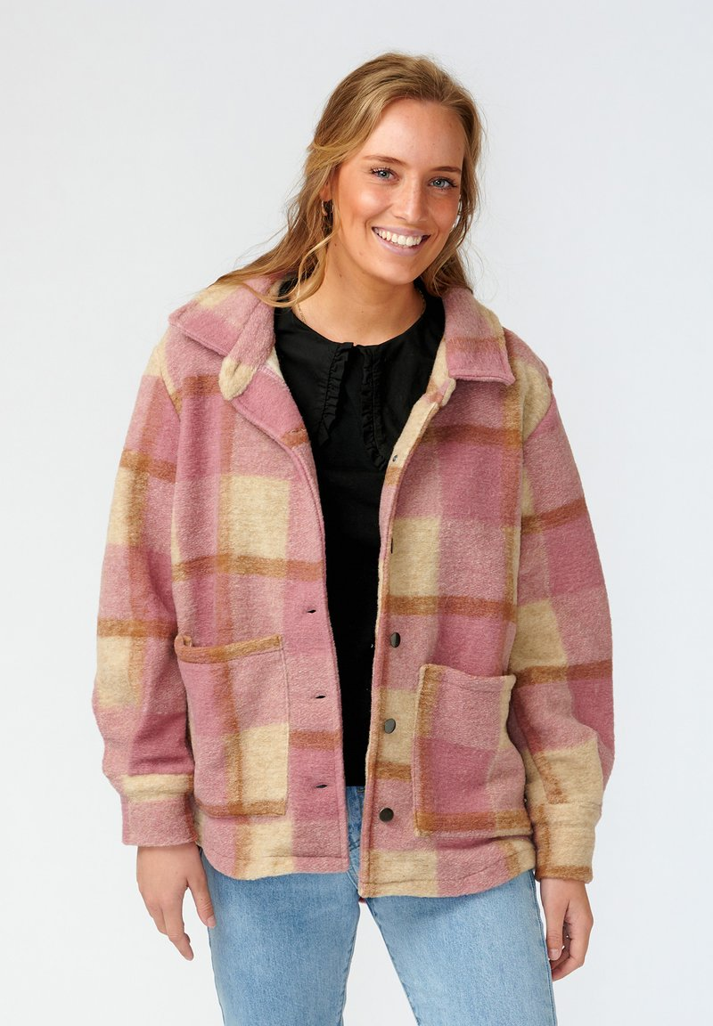 Noella - VIKSA - Short coat - dark rose beige