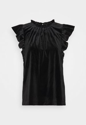 T-shirts med print - true black