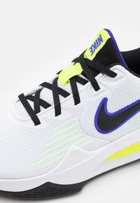 Nike Performance - PRECISION V - Basketball shoes - white/black/barely volt/volt - 5