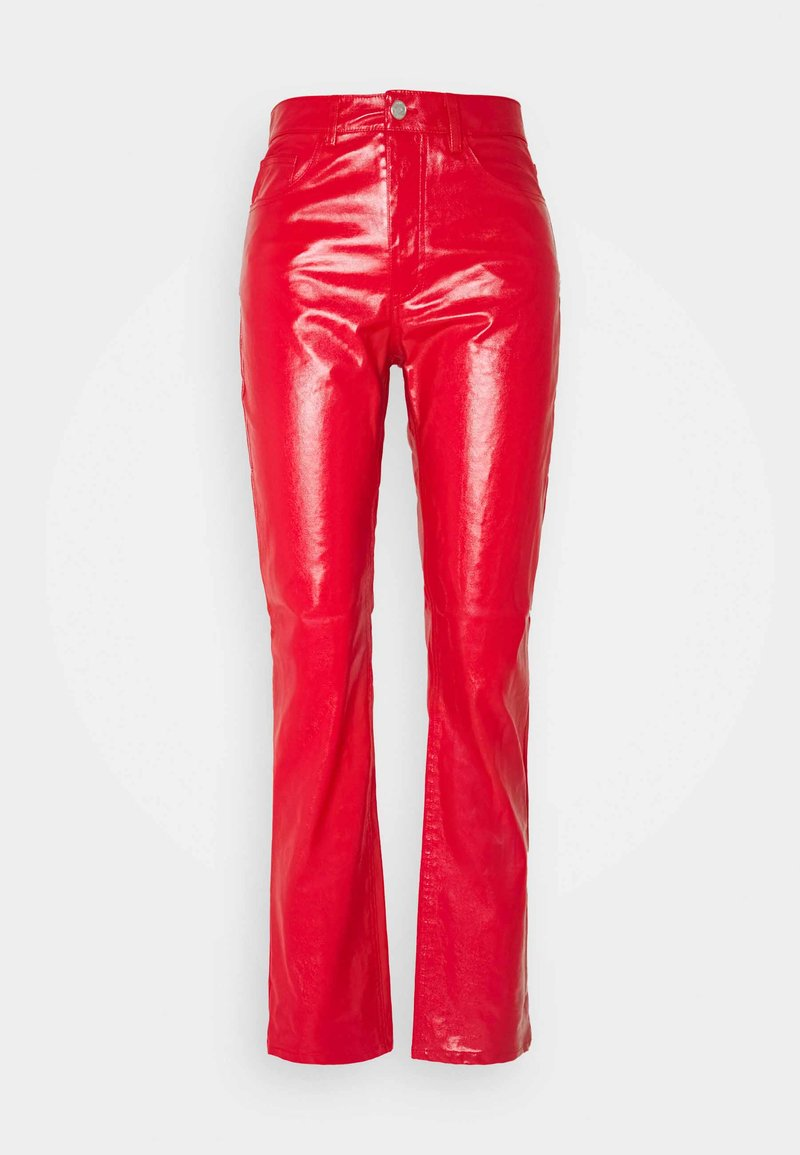 Weekday - RALPH COATED TROUSERS - Trousers - bright red