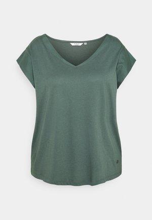 CAP SLEEVES - Basic T-shirt - washed jasper green