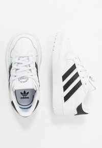 adidas Originals - TEAM COURT - Slip-ons - footwear white/core black - 0