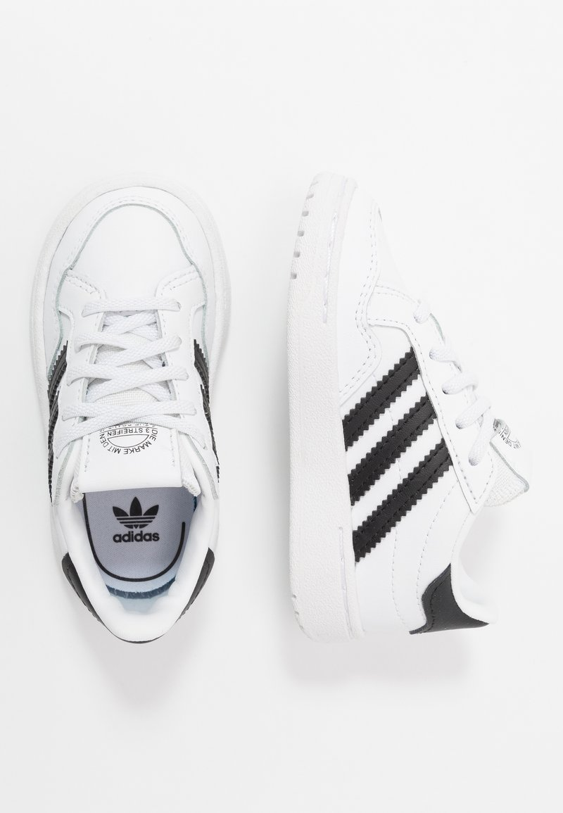 adidas Originals - TEAM COURT - Slip-ons - footwear white/core black