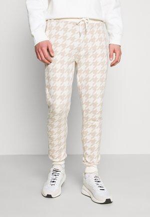 NEUTRAL HOUNDSTOOTH  - Pantaloni sportivi - stone