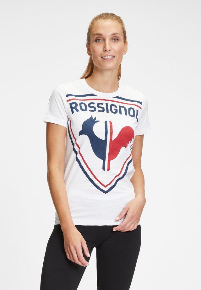 OVERSIZE ROOSTER  - T-shirt imprimé - white