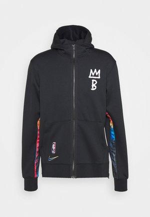 NBA BROOKLYN NETS CITY EDITON THERMAFLEX FULL ZIP JACKET - Club wear - black/soar
