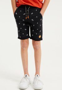 WE Fashion - MET PALMBOOMOPDRUK - Shorts - black - 1