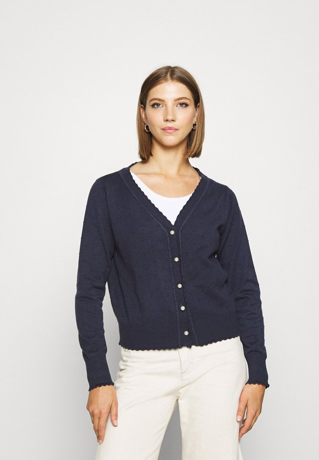 LADIES CARDIGAN - Chaqueta de punto - navy blue