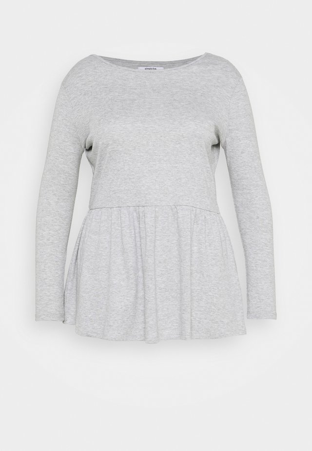 PEPLUM LONG SLEEVE - T-shirt à manches longues - grey marl