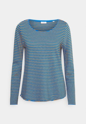 LONG SLEEVE CREW NECK STRIPED - Long sleeved top - multi/cornflower