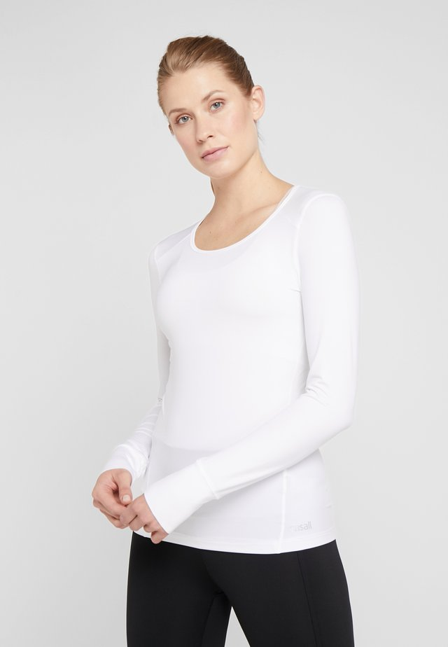 ESSENTIAL LONG SLEEVE - Long sleeved top - white