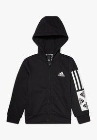 adidas Performance - Sweat à capuche zippé - black/white - 0