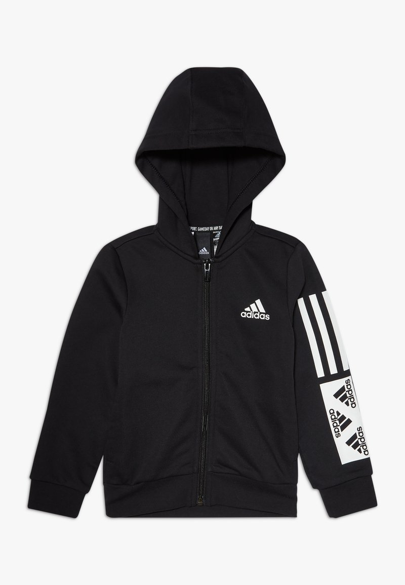 adidas Performance - Sweat à capuche zippé - black/white
