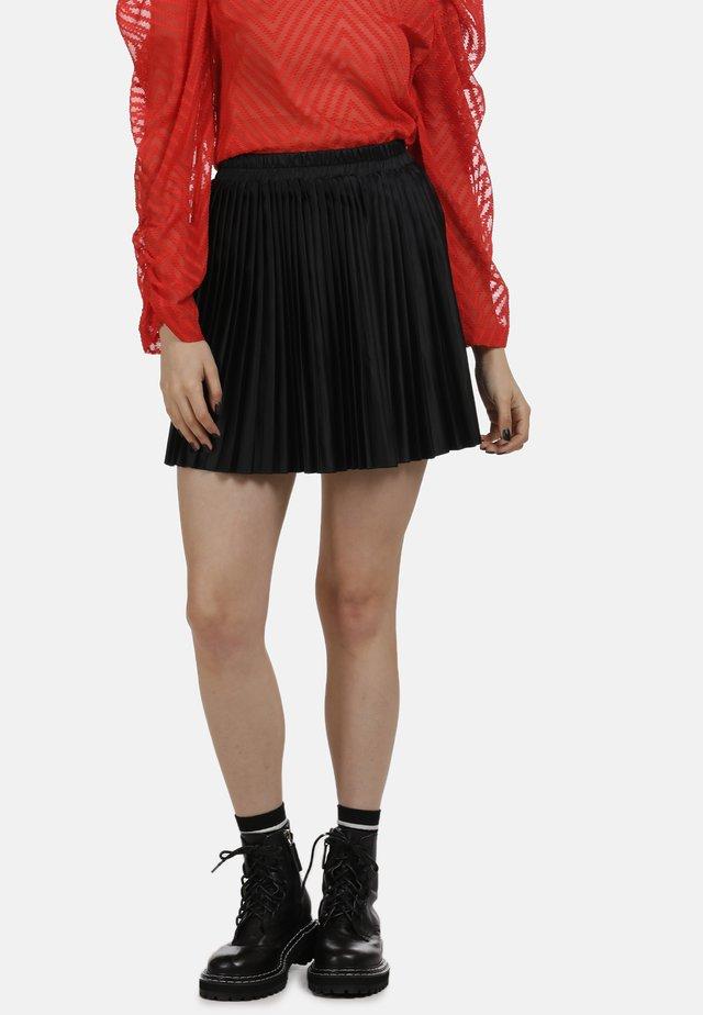 ROCK - Veckad kjol - black