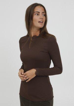 HIZAMOND  - Long sleeved top - coffee bean