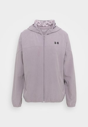 HOODED JACKET - Laufjacke - slate purple