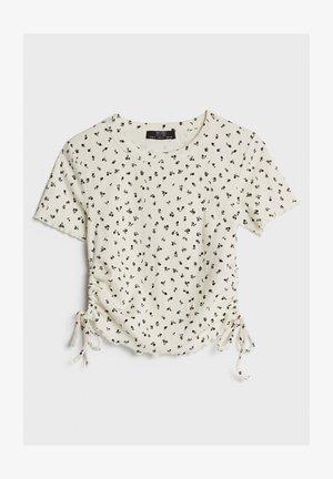 MIT SEITLICHEN RAFFUNGEN - Bluse - white