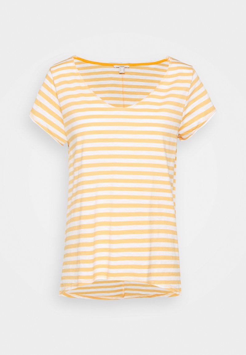 Esprit - SLUB - Print T-shirt - off white