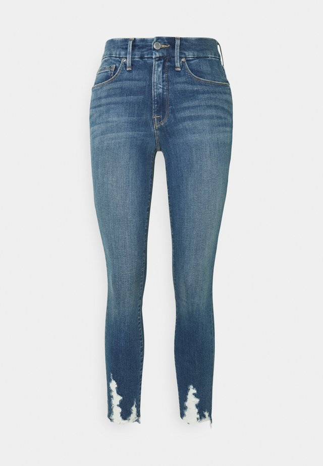 GOOD LEGS CROP CHEWED - Jeans Skinny Fit - blue