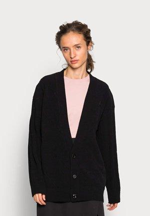 CABLE CARDIGAN  - Vest - black