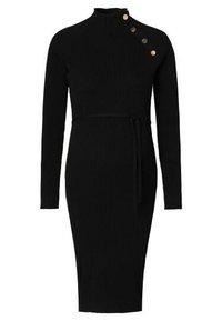 Supermom - DRESS BUTTON - Sukienka dzianinowa - black - 8