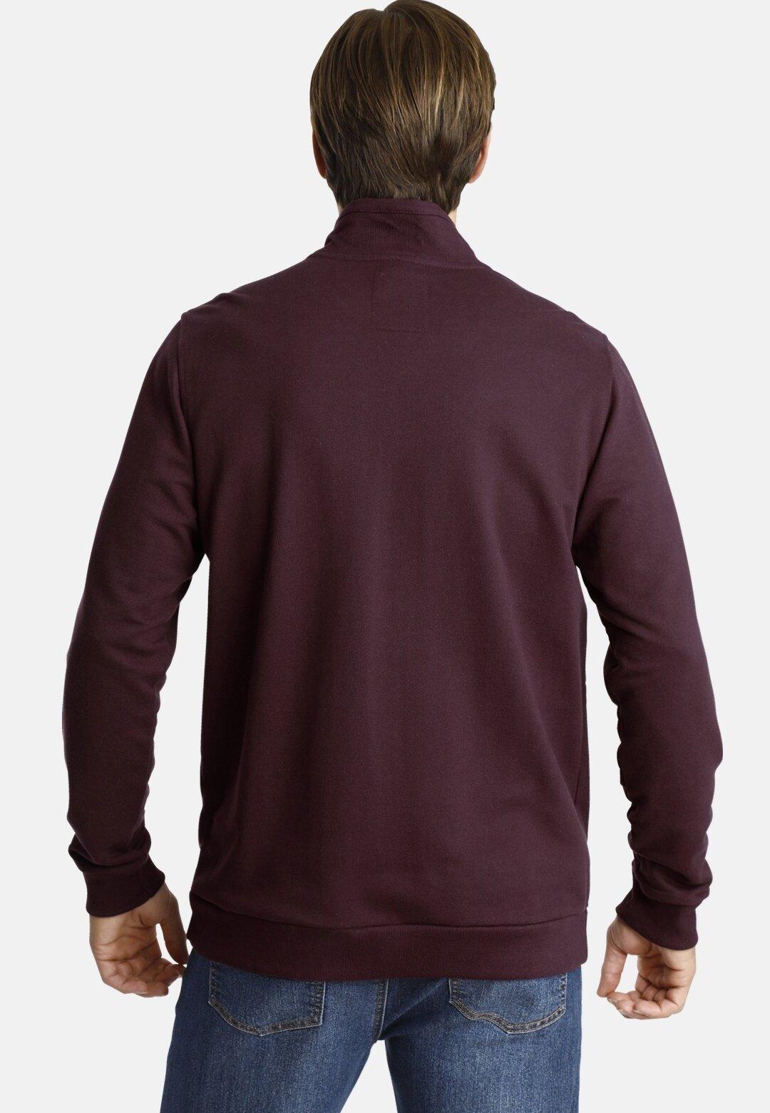 Jan Vanderstorm MATHIESEN - veste en sweat zippée - dark red