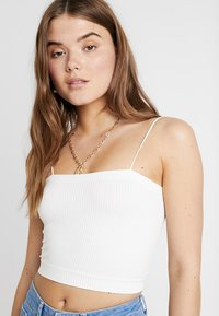 BDG Urban Outfitters - HARRIET STRAIGHT NECK CAMI - Top - white - 4