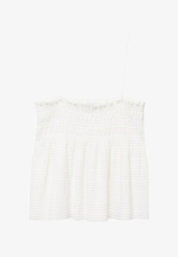 Blus - gebroken wit