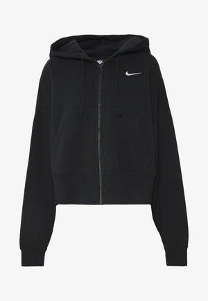 TREND - Zip-up hoodie - black/white