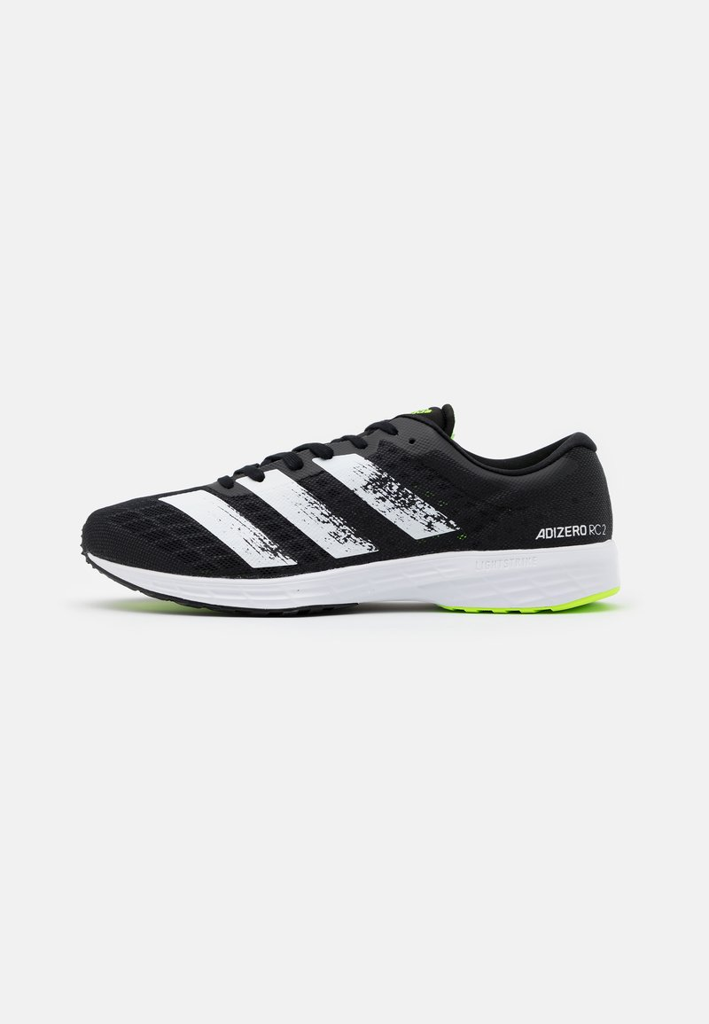 adidas Performance - ADIZERO BOUNCE SPORTS RUNNING SHOES - Competition running shoes - core black/footwear white/signal green