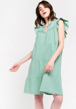 WITH FRILLS - Day dress - licht green